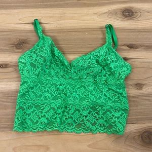 Gilly hicks green unlined bralette xs